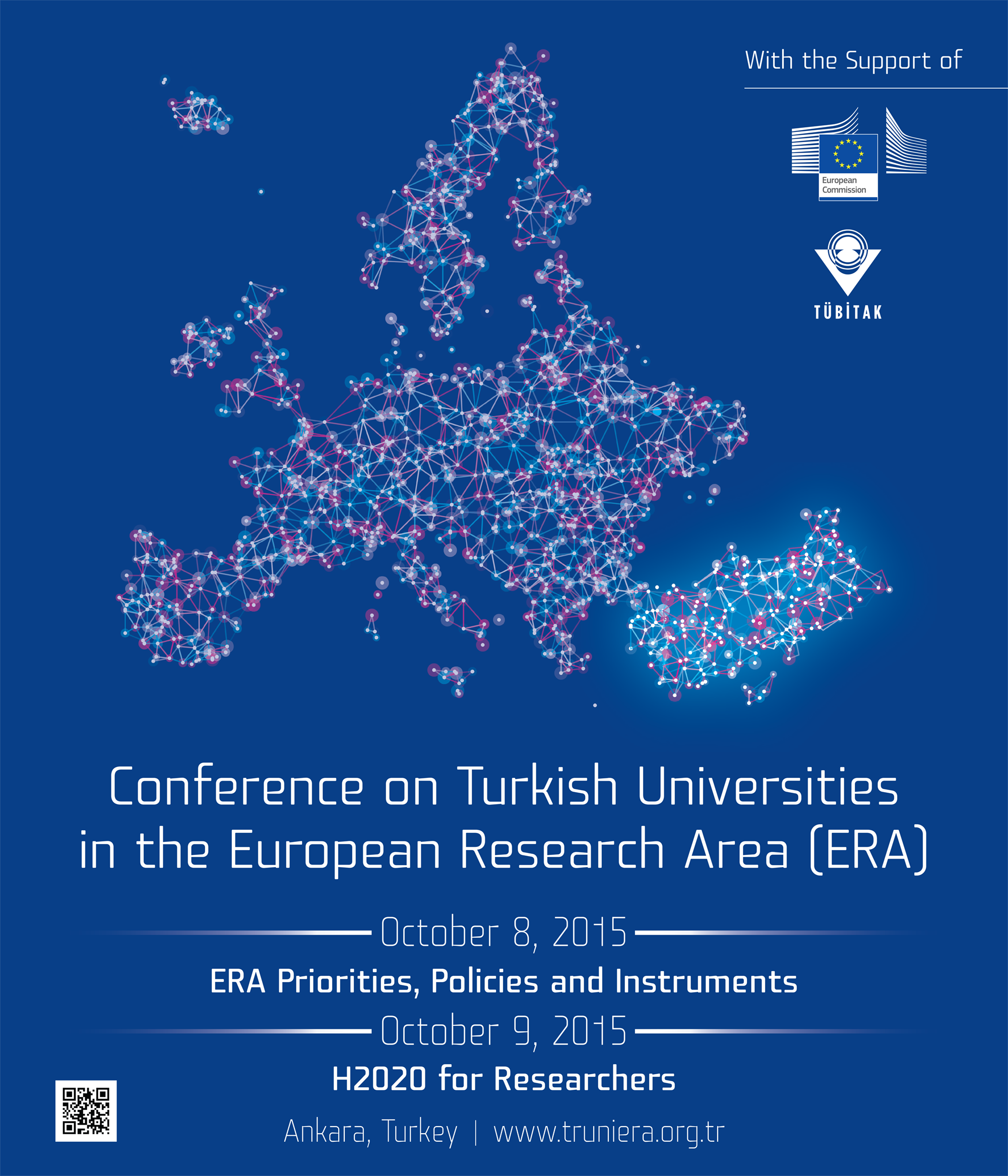 """Konferans: """"Avrupa Araştırma Alanı'nda Türk Üniversiteleri"""", Ankara Hilton Oteli, 8-9 Ekim"""